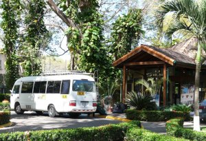 Our bus in front of Casa de Conde Mar