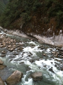 Urubamba River - view from our shower