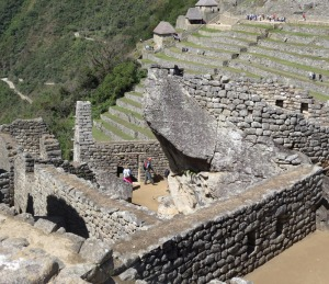 looking down into Temple of the Condor