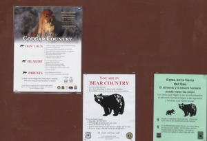Cienega Canyon wildlife signs